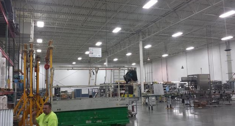 lighting retrofit job in a warehouse with new high bay led lighting, lighting retrofit job in a warehouse, energy solutions, bse lighting solutions, energy savings