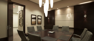 lower your energy cost by using automatic lights, picture of a business office
