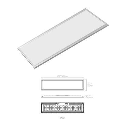 led backlit panel replacement fixture 1x4 by eiko