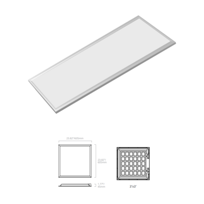 led backlit panel 2x2 replacement fixture by eiko